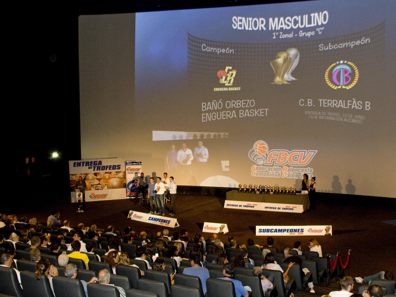 Bubo Media. Iluminación del Acto de Entrega de Trofeos Federación de Baloncesto de la CV - Kinepolis