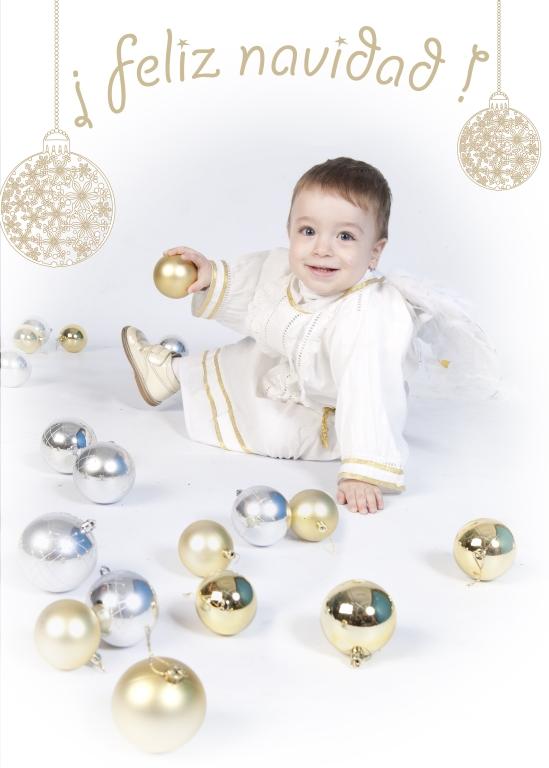 Fotografía de niños (felicitación de Navidad) 1