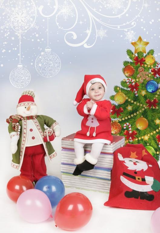 Fotografía de niños (felicitación de Navidad) 2