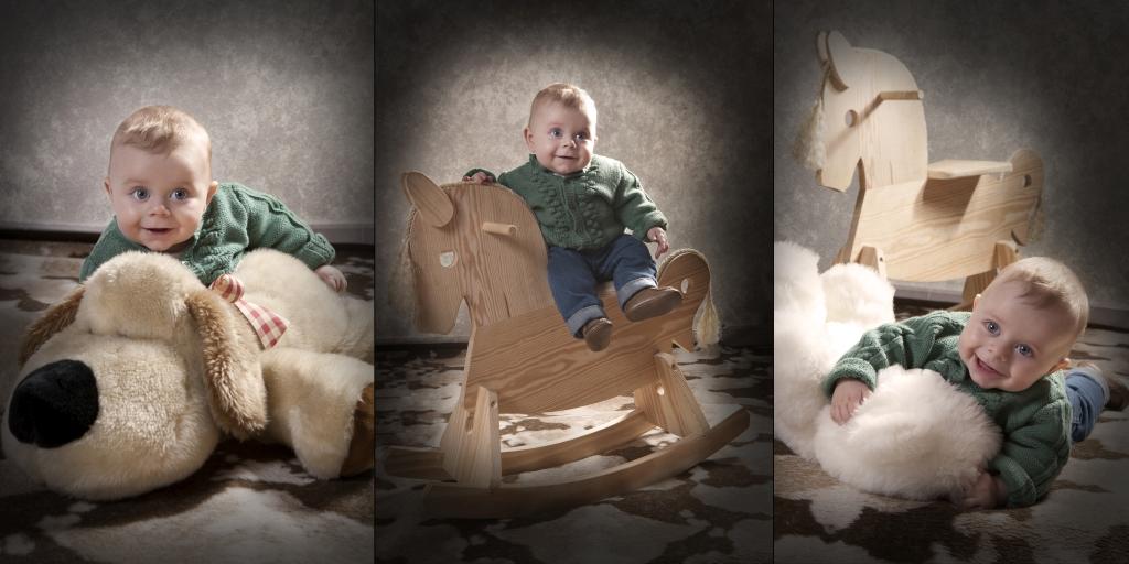 Fotografía de niños (tríptico)