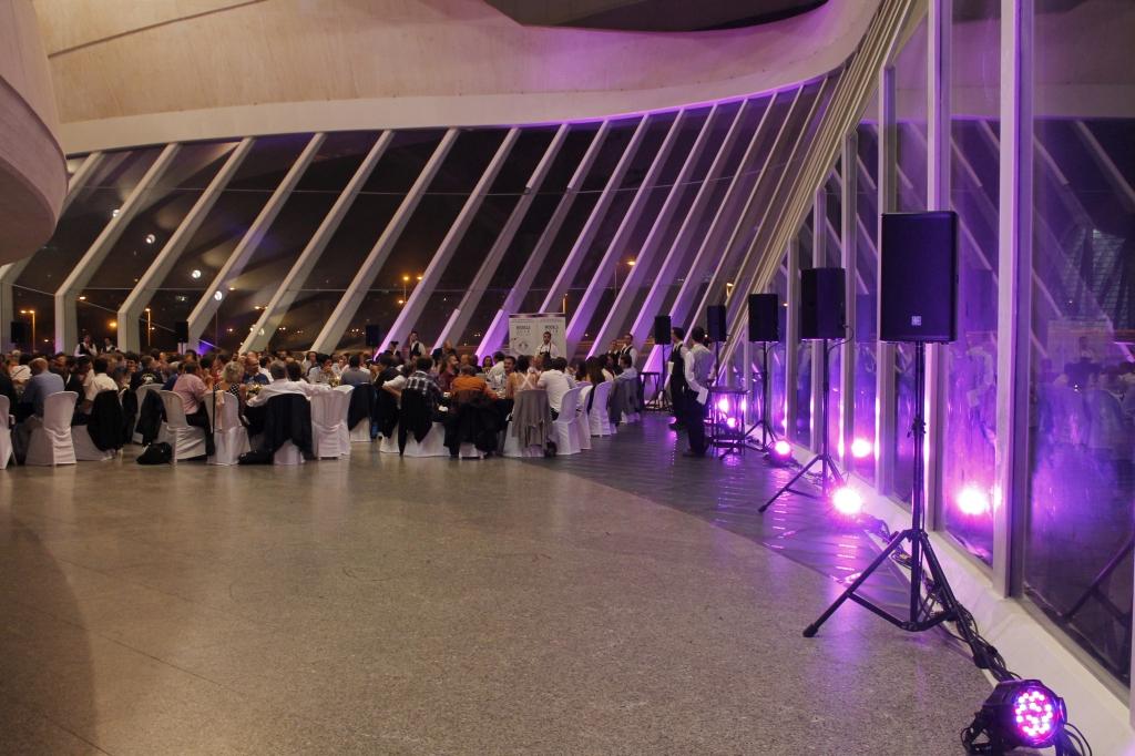 Montaje de sonido en el Palau de las Arts Reina Sofía